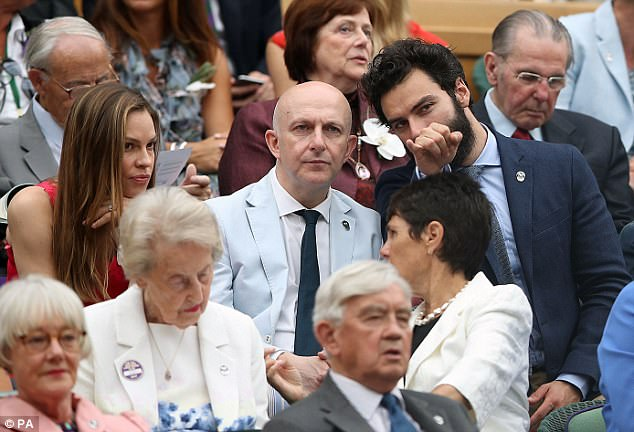 Running commentary: Aidan seemed to be explaining the rules of play to Richard and Hilary