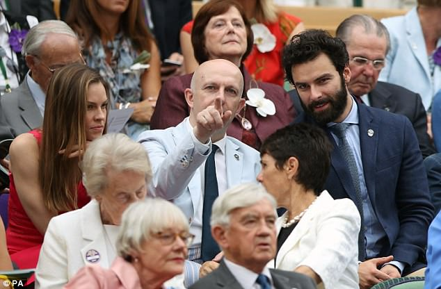 A-list: Aidan joinedRichard Cook and Hilary  in the Royal box