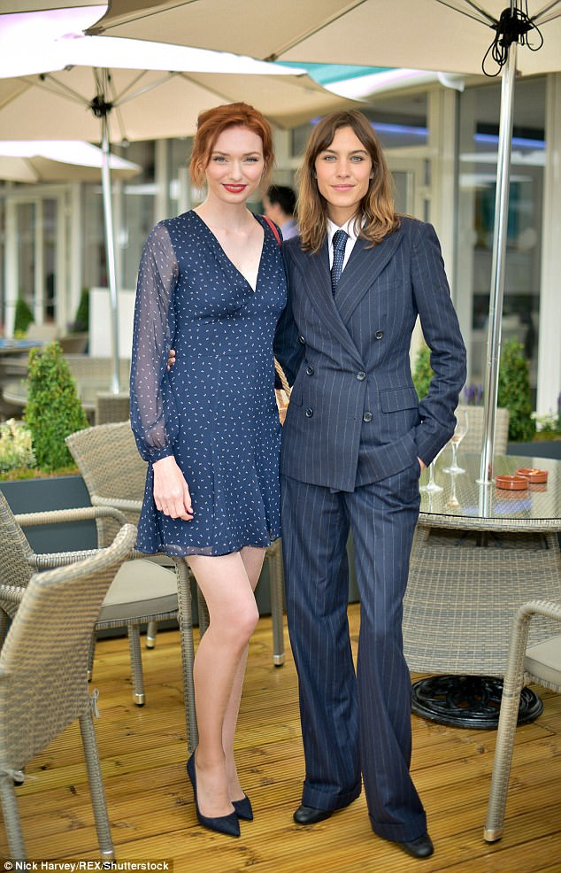 Roughing it: Eleanor and Alexa were both wearing Ralph Lauren for their non-Royal box appearance