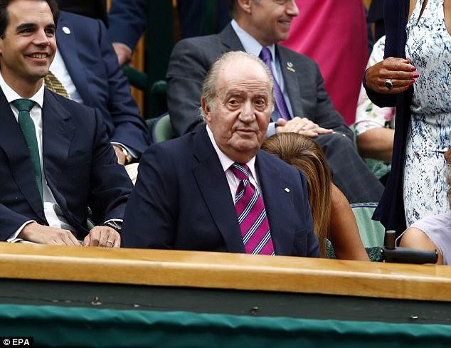 Royal Box, indeed:King Juan Carlos de Borbon of Spain in the Royal Box at the match