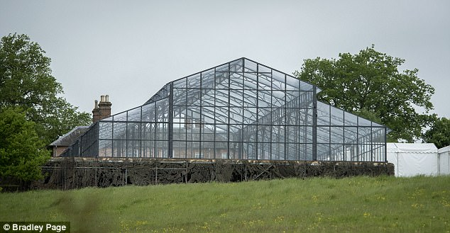 Miss Middleton has also had a £100,000 glass marquee, pictured, for the glitzy event this weekend