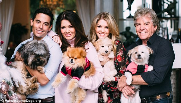 Dr. John Sessa, Lisa, Pandora Sabo and Ken Todd, the executive board of the Vanderpump Dog Foundation
