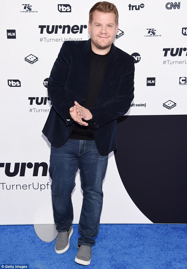 Comfortable:While hosts Anderson Cooper and Conan O'Brien looked sharp in their formal ensembles, James Corden opted for casual wear and wore jeans