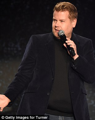 Getting the laughs all around: The 38-year-old host of the CBS host The Late Late Show took the mic during the Upfronts