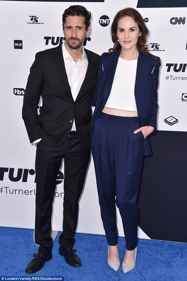 Staying close: Michelle plays Letty Raines on the TNT drama series Good Behavior; the show was just renewed for a second season; pictured with her co-star Juan Diego Botto