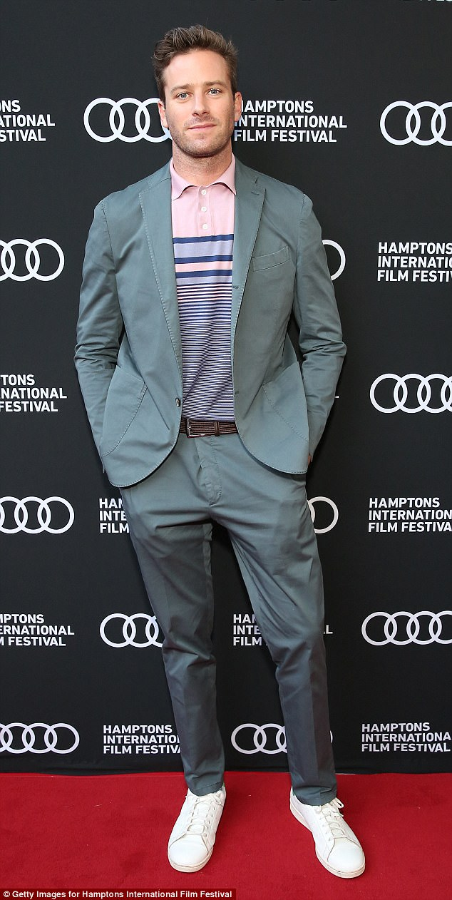 Defensive:Armie defended his new film Call Me By Your Name on Sunday
