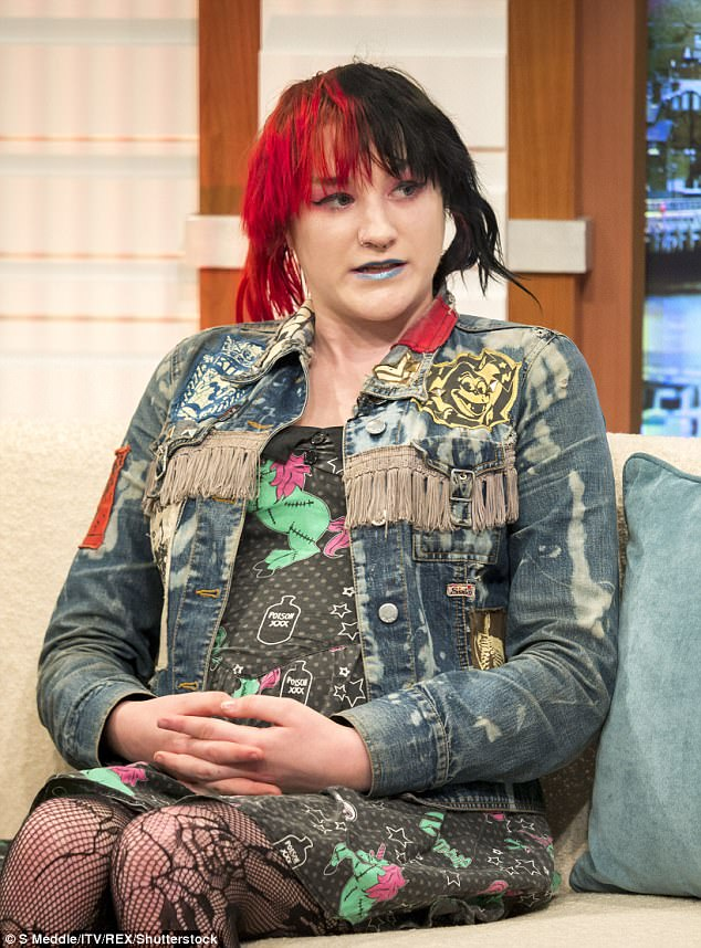 Tabitha - who was born female - explained that she identifies as gender fluid, dressing as a male or female and also using both toilets depending on who she was