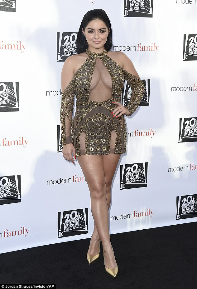 My business: The post reinforced the young actress's blase attitude towards criticism of her choice of wardrobe, which she experienced once again on Wednesday when she wore a revealing dress to a red carpet event