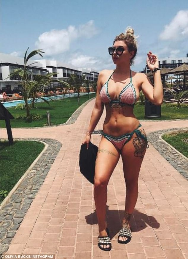 Sizzling! She flaunted her flat stomach in her range of bikinis as she catalogued their sun-soaked holiday in a series of Instagram posts