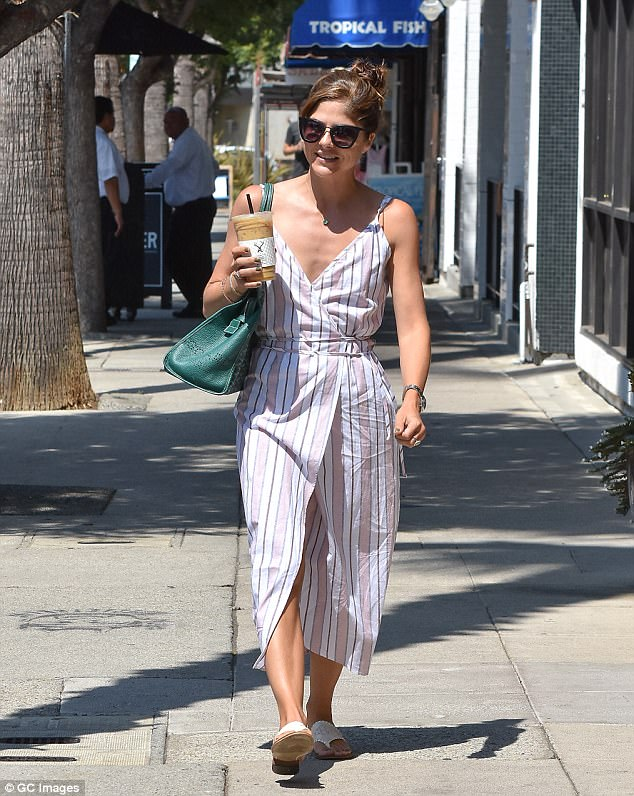 Earning her fashion stripes!Selma Blair looked nothing short of stylish as she stepped out in sunny Los Angeles on Saturday for a coffee run
