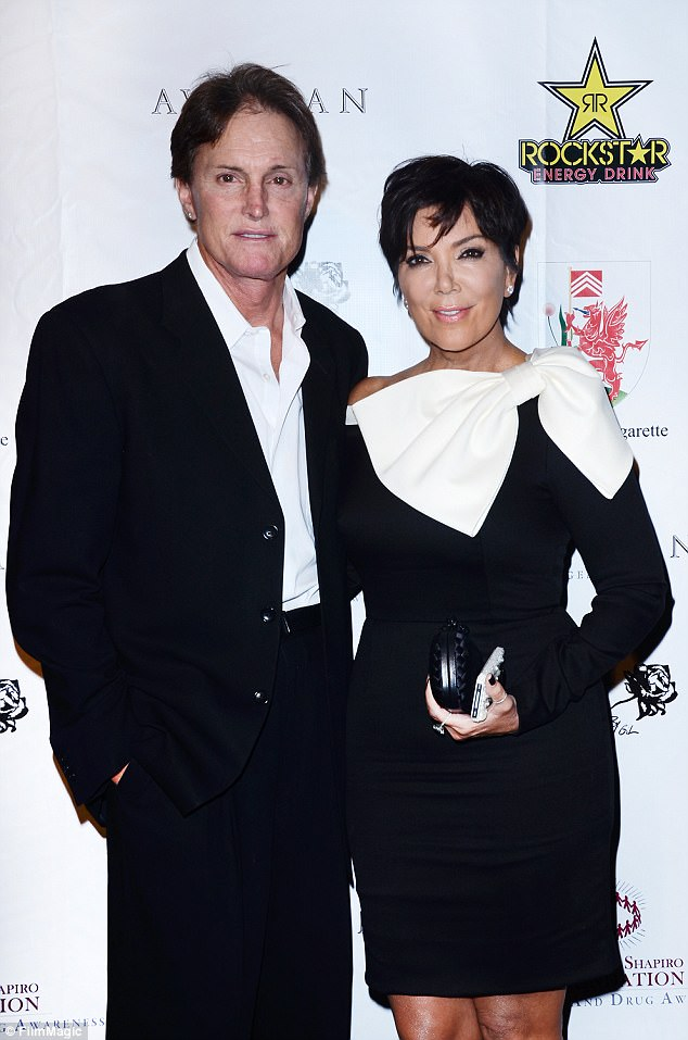 Cait is pictured above when she was Bruce Jenner (L) with Kris Jenner arriving at Brent Shapiro Foundation: The Summer Spectacular on September 15, 2012 in Beverly Hills, California