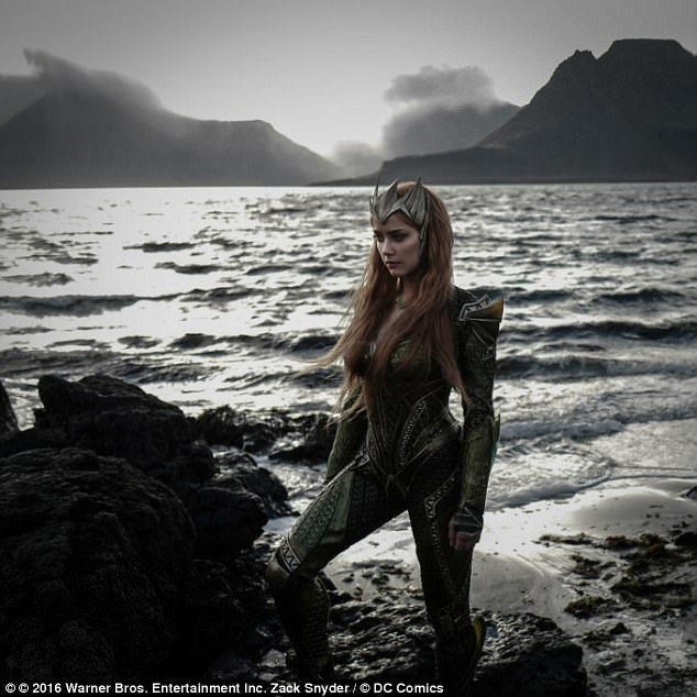 Gorgeous:  The character of Mera, played by Amber, will make her debut in the movie Justice League, out this November