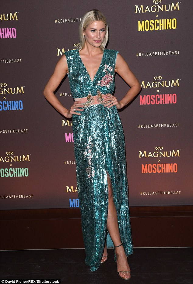 Sequin sensation: Lena Gercke showed off her model credentials