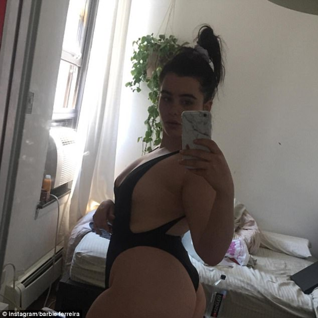 Insta-famous: Despite her 425,000 Instagram followers, Ferreira says she still gets treated differently than other models for being the 'fat girl' on set