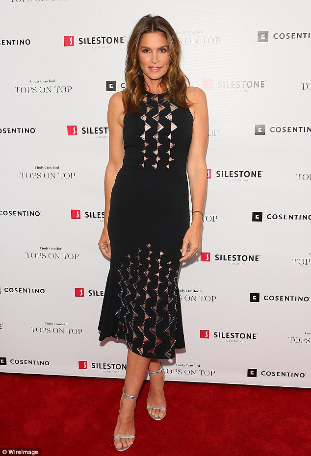 Still a 10 at 51! Crawford attends Cosentino's New Design Alliance and Launch of Silestone's Latest Collection in Hollywood on Tuesday