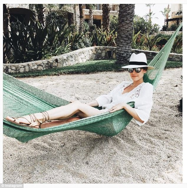Island time: Kristin Cavallari, 30, loves to sport the brand while on vacation