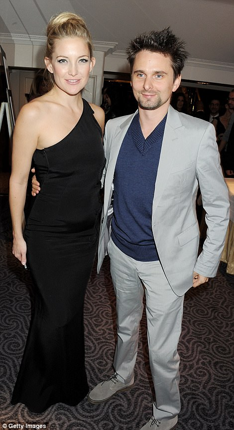 Moving on: Matt Bellamy, 38, has listed his beautiful Lake Como penthouse, which he once shared with ex Kate Hudson for a cool £1.5 million