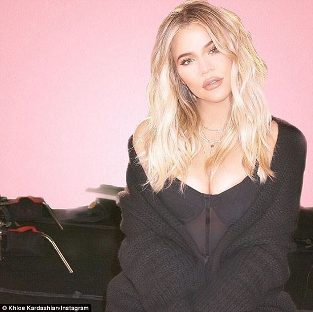 Grateful and gorgeous!Khloe Kardashian posed for a smoldering new snap as she reflected on how thankful she is to have found such a 'positive influence' in boyfriend Tristan Thompson