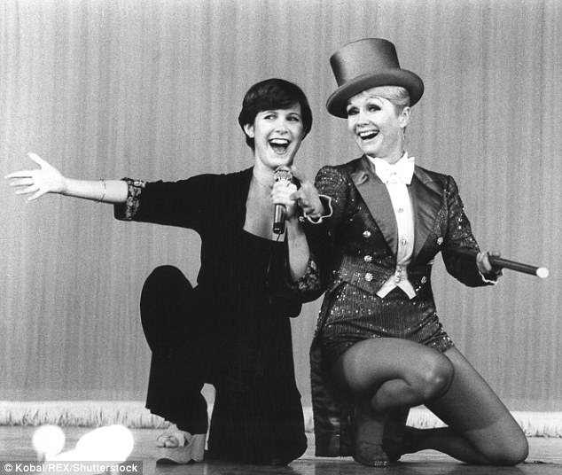 Family affair:In addition to Fisher, her legendary mother Debbie Reynolds - who died one day after her daughter - was honored