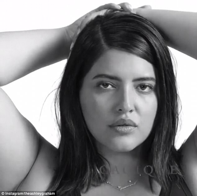 No filters:  Denise Bidot joined fellow plus-sized stars to dare women to accept their flaws