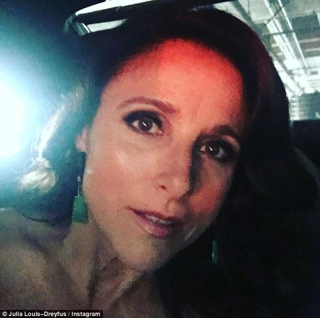 Award time: Eight-time Emmy winner Julia Louis-Dreyfus shared a photo from inside her car as she made her way to the ceremony