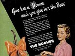 The vintage festive ads, taken from early 20th century Britain and the USA, reveal the questionable marketing strategies of the past, with executives defiant that hoovers and irons are the best gifts for women and cigarettes perfectly suited to men
