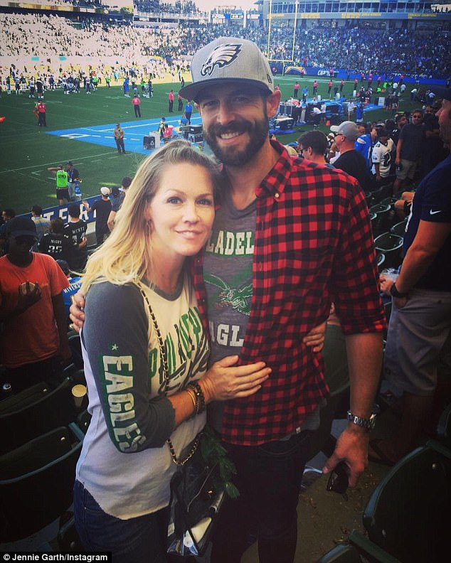 Memories:The last photo Jennie posted of her estranged husband Dave Abrams on social media was of the couple attending an Eagles game on October 1