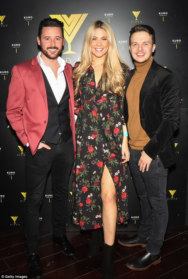 Flower power: Stepping out in a 3/4 length floral gown which featured a high thigh slit, the reality star's outfit showed off her stunning lithe legs.