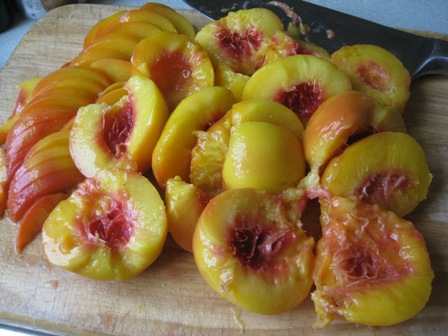 blanched peaches:
