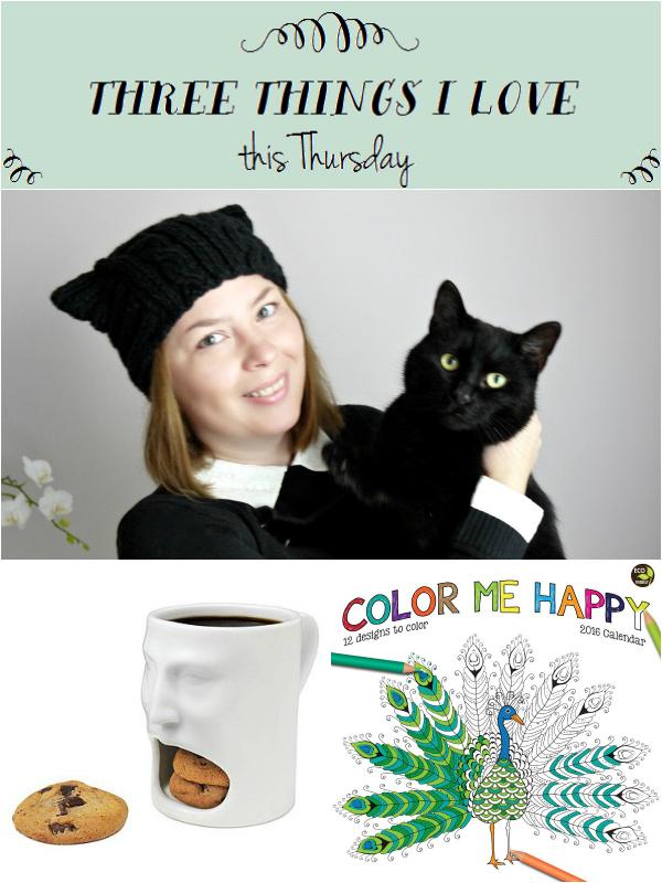 Three Things Thursday hat, mug, calendar