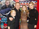 Aled Jones with pictured with his wife Claire Fossett, 41, and children Emelia, 15, and Lucas, 12, in November. He has said how 'thankful' he is to spend time with his 'incredible' children