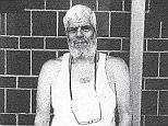 The black and white snap appears to have been taken within the confines of the US Supermax prison in Colorado and shows his hair and beard completely white
