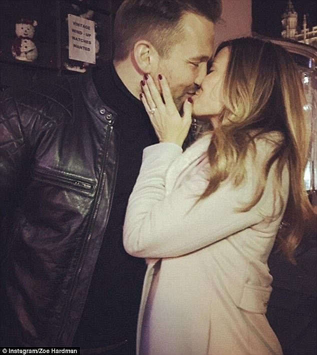 Happy couple: Zoe and Paul have been together for two and a half years, and announced their engagement in December 2016