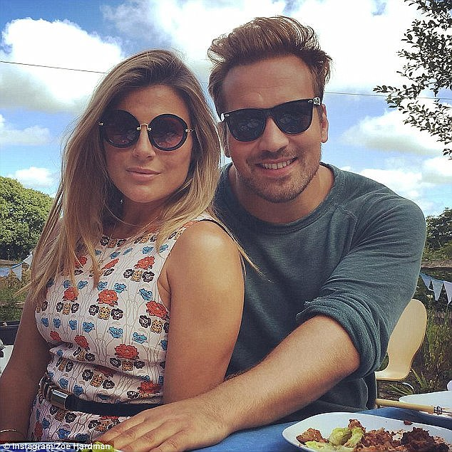 Delighted: Zoe recently revealed her struggle to get pregnant, with a low egg count leaving her fearing she would be unable to conceive