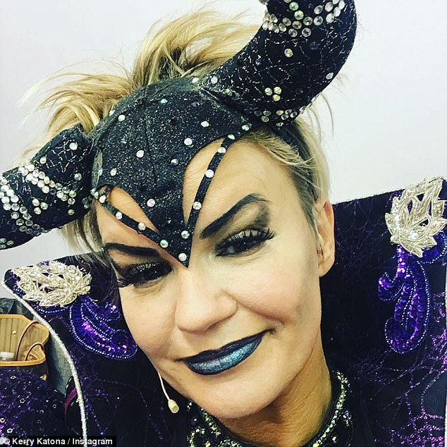Illness: Kerry Katona pulled out of her pantomime role on Sunday night after being struck down with pharyngitis but is feeling much better now