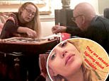 Rupert Murdoch and his 61-year-old wife Jerry Hall were snapped playing a game of Scrabble on Christmas Eve in London