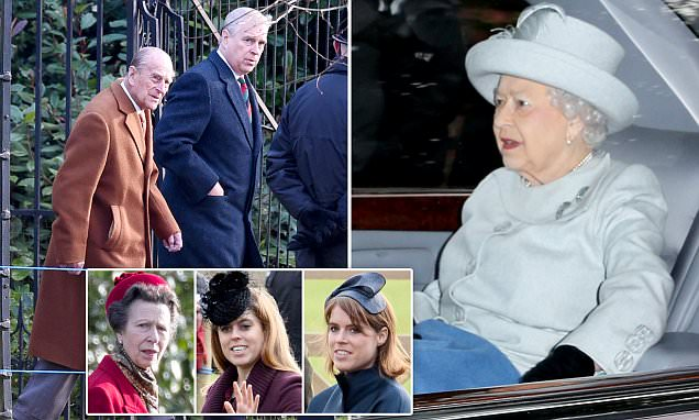 Royals gather at Sandringham for Christmas Eve service