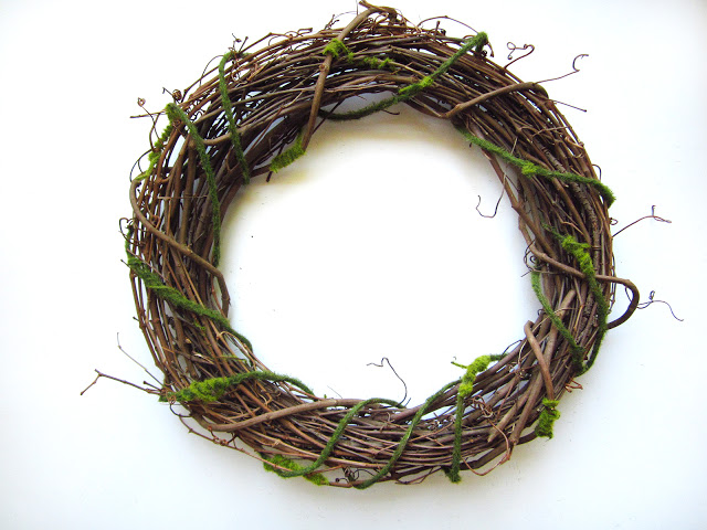 mossy wrapped wreath