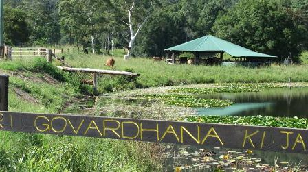 lake at New Govardhana: