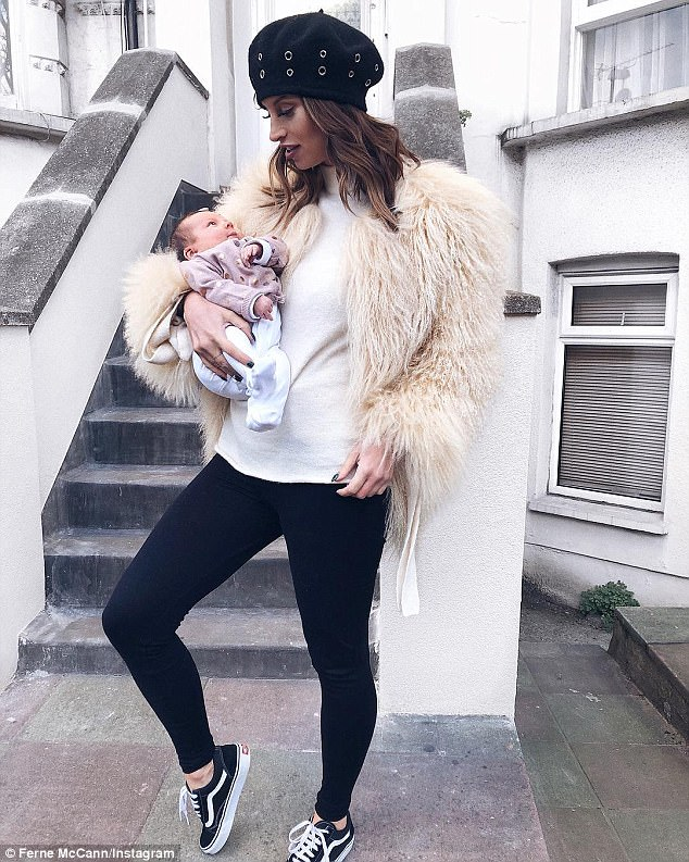 'She is worried and distraught': Ferne McCann 'lost weight and sleep' as her daughter Sunday was targeted by 'vicious' online trolls after the dad of her baby Arthur Collins was jailed