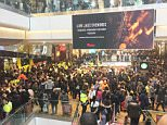 Police descended upon the Westfield Shopping Centre in Stratford Tuesday evening after reports of a riot between rival gangs