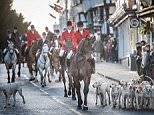 A man was riding his horse through Bassaleg, near Newport, Wales, when protesters and supporters clashed in the village