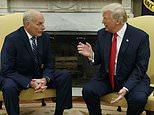 FILE - In this July 31, 2017, file photo, President Donald Trump talks with new White House Chief of Staff John Kelly after he was privately sworn in during a ceremony in the Oval Office in Washington. For an administration that has spent 2017 throwing off headlines at a stunningly dizzying pace, the frenetic fortnight in the second half of July reached an unparalleled breakneck speed. Set amid the backdrop of a president grappling with his deepest insecurities, the West Wing's breakdown in policy collided with its collapse in personnel and acted as a crucial inflection point for Trump's first year in office. (AP Photo/Evan Vucci, File)