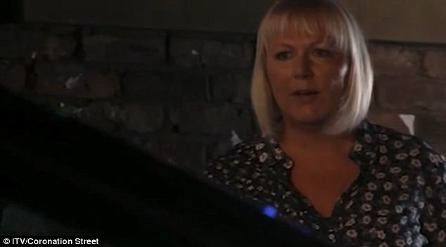 Dramatic: In the scene Todd's mum Eileen (Sue Cleaver) was left as Todd sped away with Summer in the car