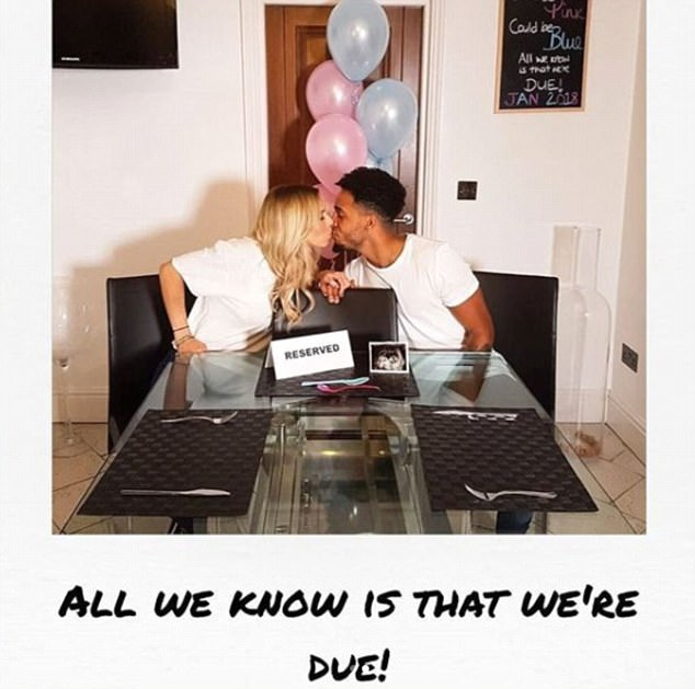 'We're due!' The announcement is set to top of a special year for their romance as back in September they announced their pregnancy