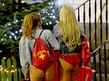 These party-goers did not leave much to the imagination as they dressed as lifeguards from 1980s TV show Baywatch. Their outfits were complete with inflatable surf boards