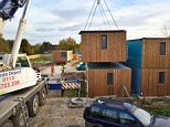 Prefab homes were delivered to a site in Reading this week, where they will be used to house homeless families from the area