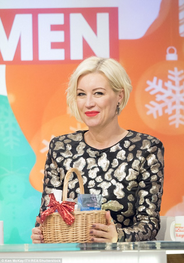 Exciting: Denise Van Outen, 43, is set to mark a relationship milestone with her beau as the pair will move into a brand new home in 2018, revealed on the panel show