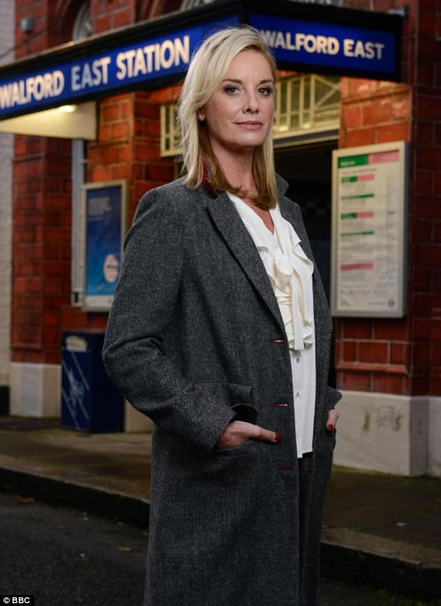 Making an entrance: Fans are eagerly awaiting the return of EastEnders favourite Mel Owen, played by Tamzin Outhwaite, who has not been seen on Albert Square since 2002