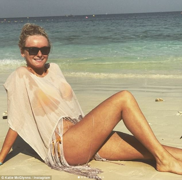 Toned and tanned: The cobble's favourite is still enjoying the results of her two stone weight-loss from earlier in the year, going on a fitness mission after she reached 15 stone